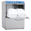 Lave-vaisselle 500 x 500 mm Série FAST triphasé avec pompe de vidange - Affichage digital