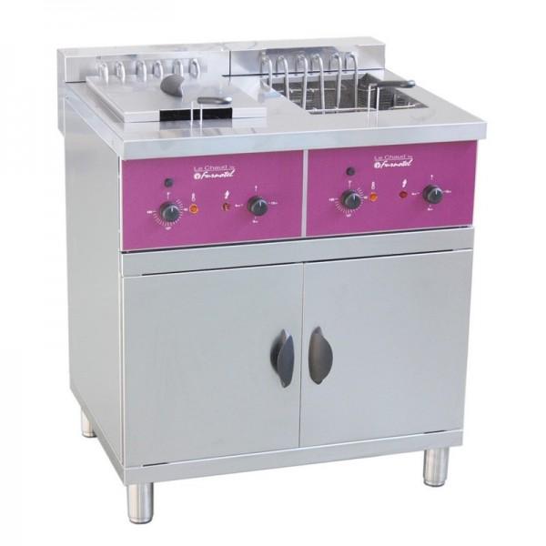 Friteuse sur coffre électrique 2 x 16 litres