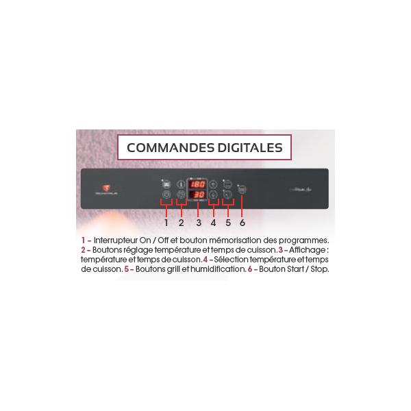 Four à air pulsé 4 niveaux 433x333 mm+Salamandre - Commande digit.
