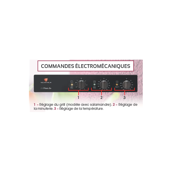 Four à air pulsé 4 niveaux 600x400 mm et GN 1/1 - Commande électromécanique