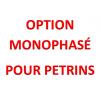 Option Monophasé pour Pétrins