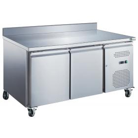 Table réfrigérée 2 portes avec dosseret