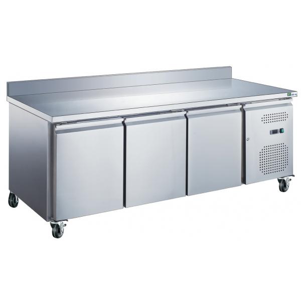 Table réfrigérée 3 portes avec dosseret