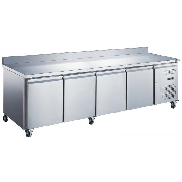 Table réfrigérée 4 portes avec dosseret