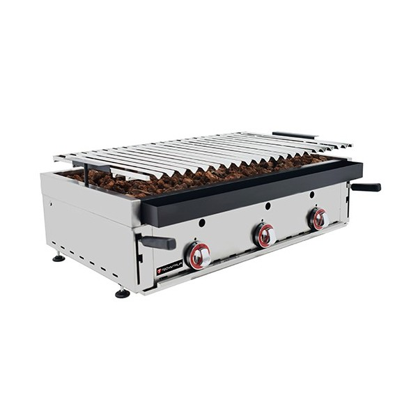 Grill charcoal gaz 900 mm - 6 rampes