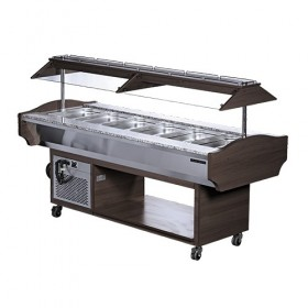 Buffet salad'bar réfrigéré 6 X GN1/1