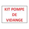 Kit pompe de vidange pour lave-verres et lave-vaisselle