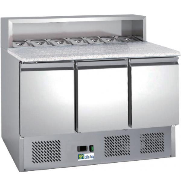 """Meuble Pizzas réfrigéré """"Eco"""" 3 portes"""