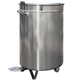 Poubelle Inox à pédale 60 litres
