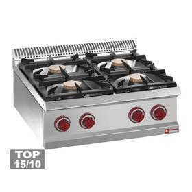 Cuisinière gaz 4 feux vifs -Top