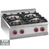 Cuisinière gaz 4 feux vifs (4x7 kW) à poser -Top