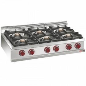 Cuisinière gaz 6 feux vifs -Top