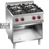 Cuisinière gaz 4 feux vifs (4x7 kW) sur meuble ouvert